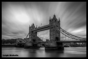 Tower Bridge black and white by nicholls34