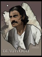 Al Swearengen by CartoonCaveman