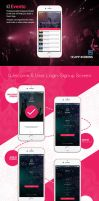 Event Mobile App - EVENTO by designpex