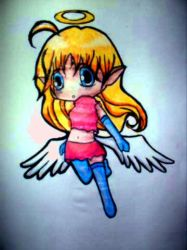 Deformed chibi angel thing by theamazingkitkit