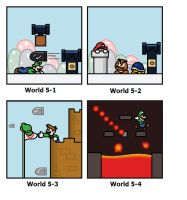 SMB: World 5 by minimariodrawer