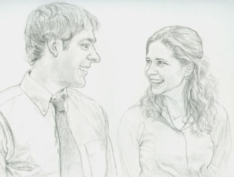 Jim and Pam by Dangerskew