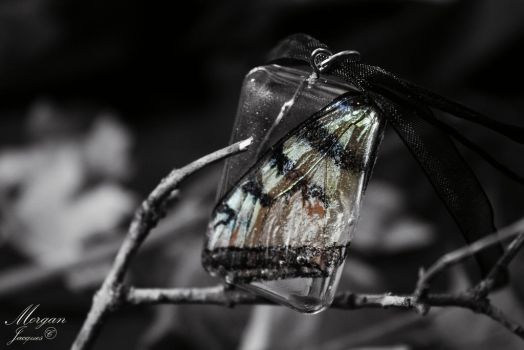 Butterfly Wing Pendant by CreativityFTCorrupt