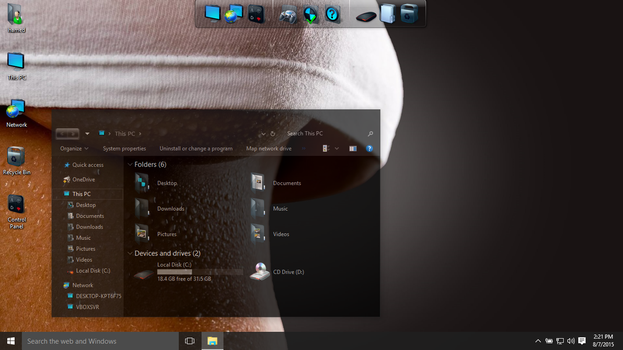 Dark Glass theme for Win10 by hamed1987s