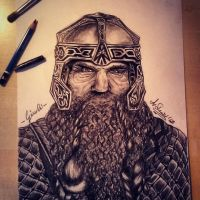 Gimli Fanart The Lord of the Rings by Angesik