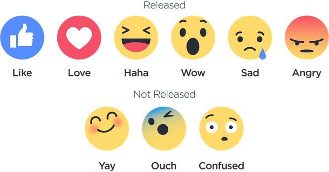 New Facebook Reactions by Stayka007