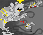 dusknoir Battle by CrazyIguana