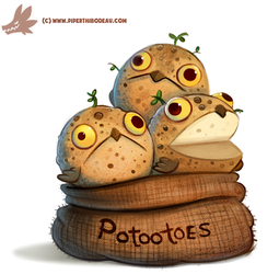 Daily Paint #1152. Potootoes by Cryptid-Creations