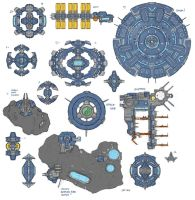 Stars in Shadow: Base Design Thumbnails by AriochIV