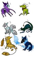 Adoptables Batch 1[CLOSED] by Minimad24