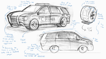 Car sketches and analysis 1 by ResidentEvilffs