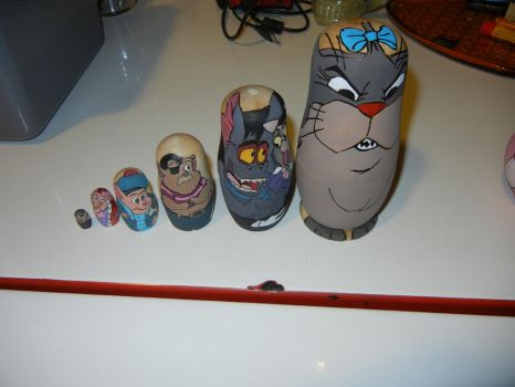 Great Mouse detective nesting dolls by modastrid