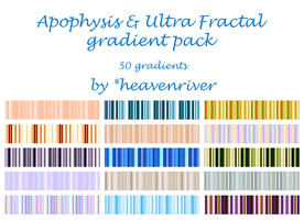 Apophysis gradient pack - 50x by heavenriver