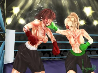 Emily Faul Vs. Veronica Eagle Part 2 by Mechassault-Man