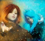 Ice and Fire (The Kuos - Jenny FB and Ruby Amera) by AHAKuo