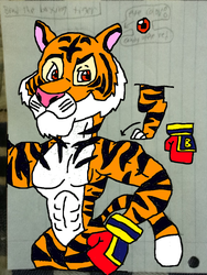 Brad the Boxing Tiger (color version) by conlimic000