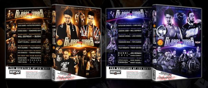 RPW Global Wars two nights DVD artworks by THE-MFSTER-DESIGNS