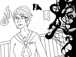 LET'S PLAY CORPSE PARTY LINEART by NeonEmpathy