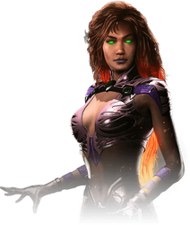 Starfire Injustice 2 Portrait PNG by DarkVoidPictures