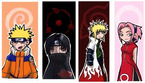 Naruto Bookmarks by nalina