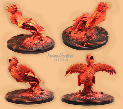 Phoenix Sculpture by NocturnalCreations-x