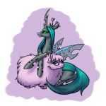queen chrysalis and fluffle puff by begasuslu