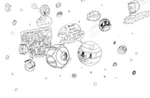 Space is teeming with spheres by CyberneticCupcake
