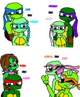 TMNT Couples by donnygurl555
