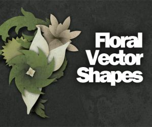 Free Floral Vector Shapes by Hebbylaya