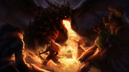 Deathwing's Arrival by Altana