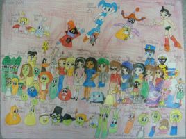 Me and the whole characters by Magic-Kristina-KW