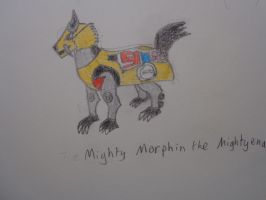 Mighty Morphin the Mightyena by woodywoodwood