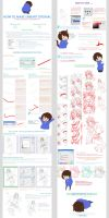 HOW TO MAKE LINEART TUTORIAL by Sakon04