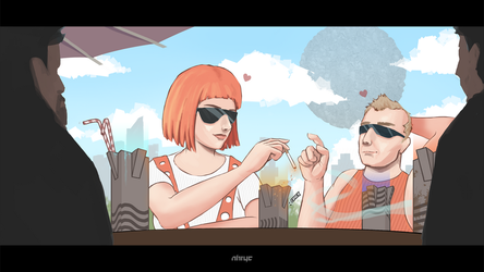 Leeloo Cafe - The Last Cigarette by nirryc