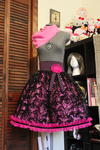 Black and Pink Skirt by emiko42