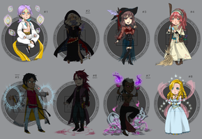 Adoptables batch - SET PRICE [OPEN 4/8] by RedTaiga