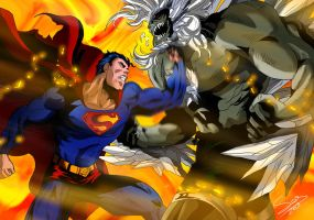 Superman and Doomsday by Sersiso