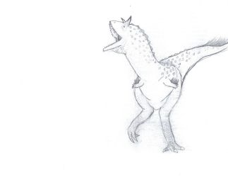 male carnotaurus mating dance by theropodrex
