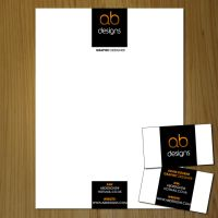 Letterhead and Business Card by AB-Designs