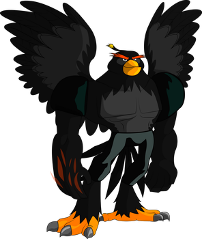 Angry Birds Bomb Antropomorphic by CountWildrake