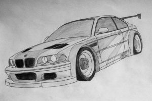 BMW M3 GTR NFS Most Wanted (2005) by Bloudy92