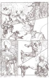 Uncanny Xmen 112 redraw page 3 pencil sample by benttibisson