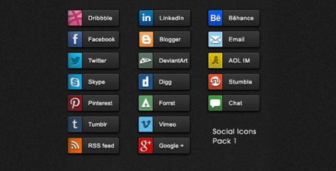 19 Detailed quality Social share buttons pack by SynPredator