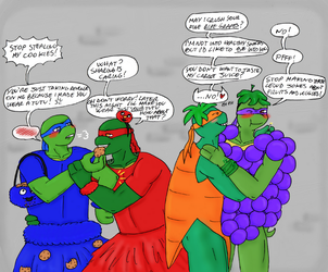 Tmnt Secret Santa 2017-Dressing up for Halloween by IllyDragonfly