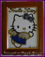 Hello Kitty Blue Angel by lamu1976