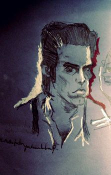 nick cave sketch..sort of by themothgirl