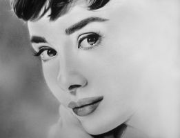 Audrey Hepburn workinprogress by GiuliaTarter