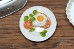 1:12th scale fried egg and tomatoes miniature food