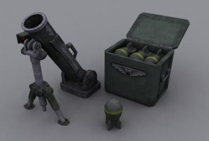 Imperial Guard mortar by S0id3