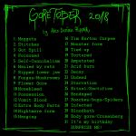 GORETOBER 2018 prompts by RatTheRipper